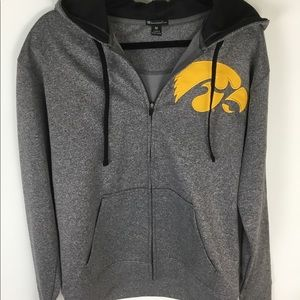 Champion Elite Iowa Hawkeyes gray full zip hoodie